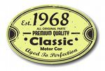Distressed Aged Established 1968 Aged To Perfection Oval Design For Classic Car External Vinyl Car Sticker 120x80mm